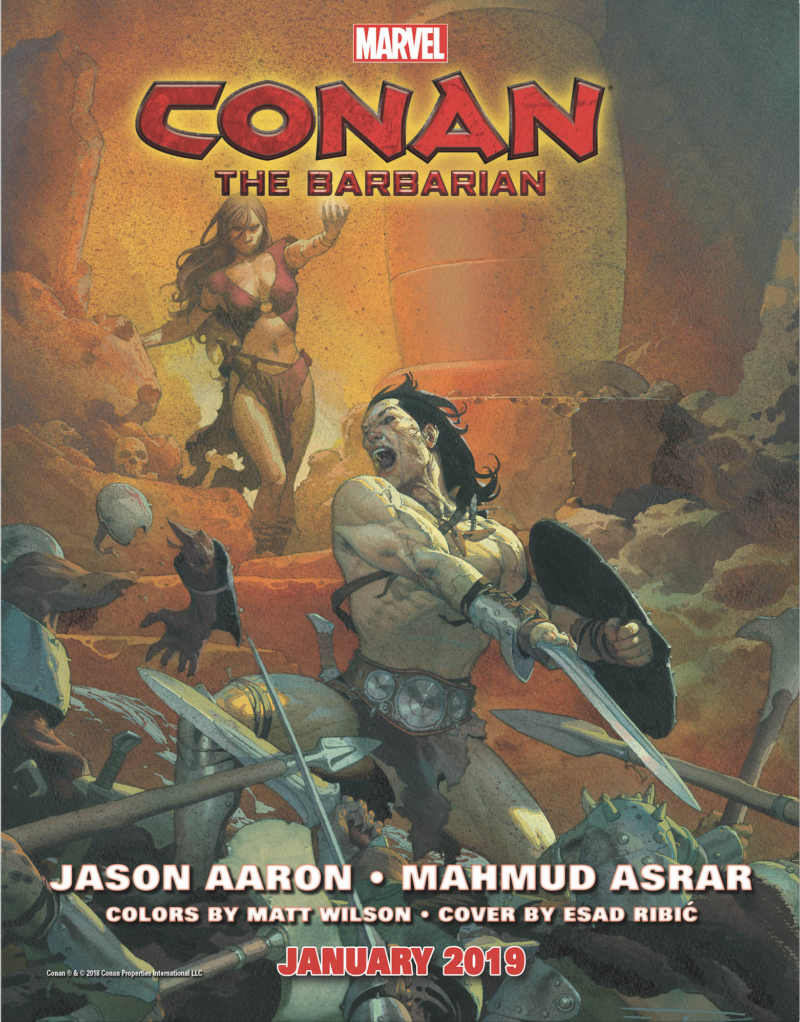 Marvel Comics - Conan the Barbarian - issue 01 - Cover
