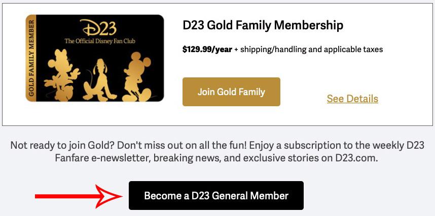 D23 Membership Signup