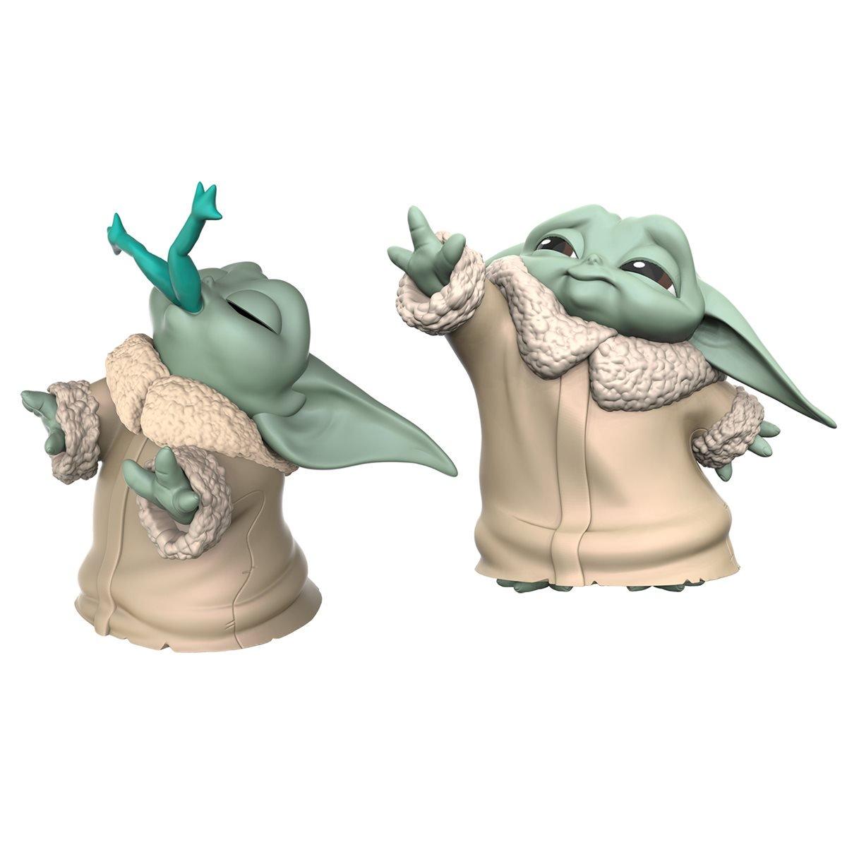 Hasbro - Star Wars - The Mandalorian - Baby Yoda - Baby Bounties Frog and Force Mini-Figures - 01