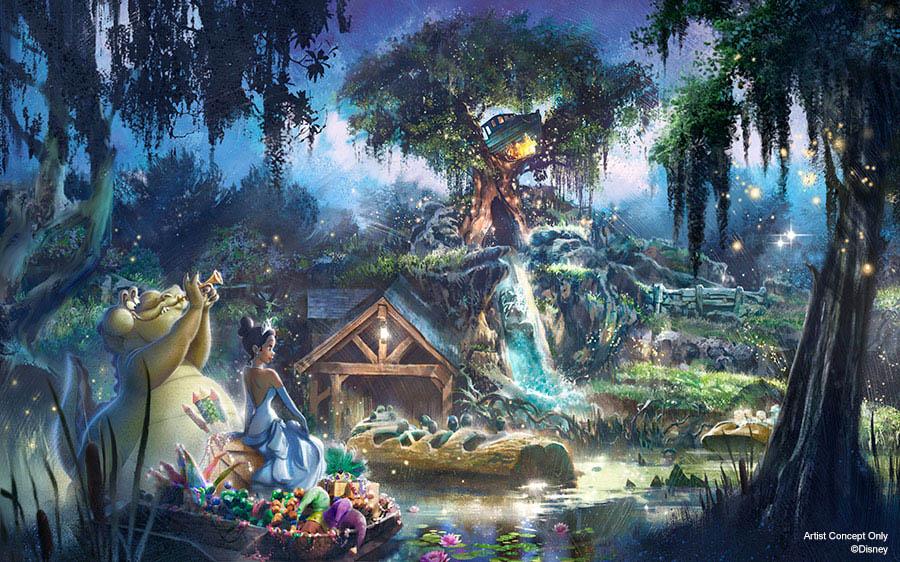 Splash Mountain - Princes and the Frog - Concept Art - 01