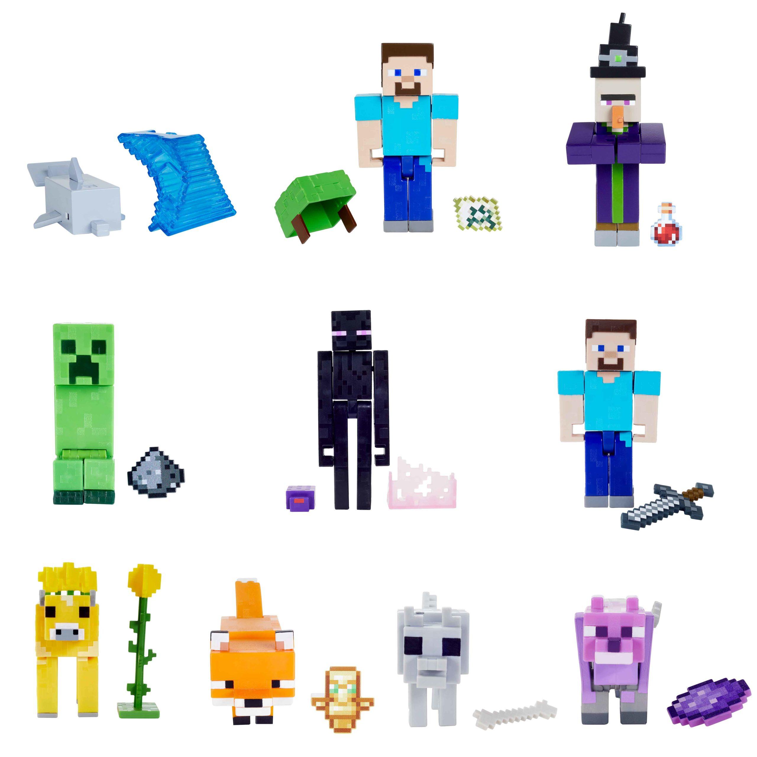 Mattel - Virtual Toy Fair 2021 - Minecraft 3-25 Core Figure Assortment
