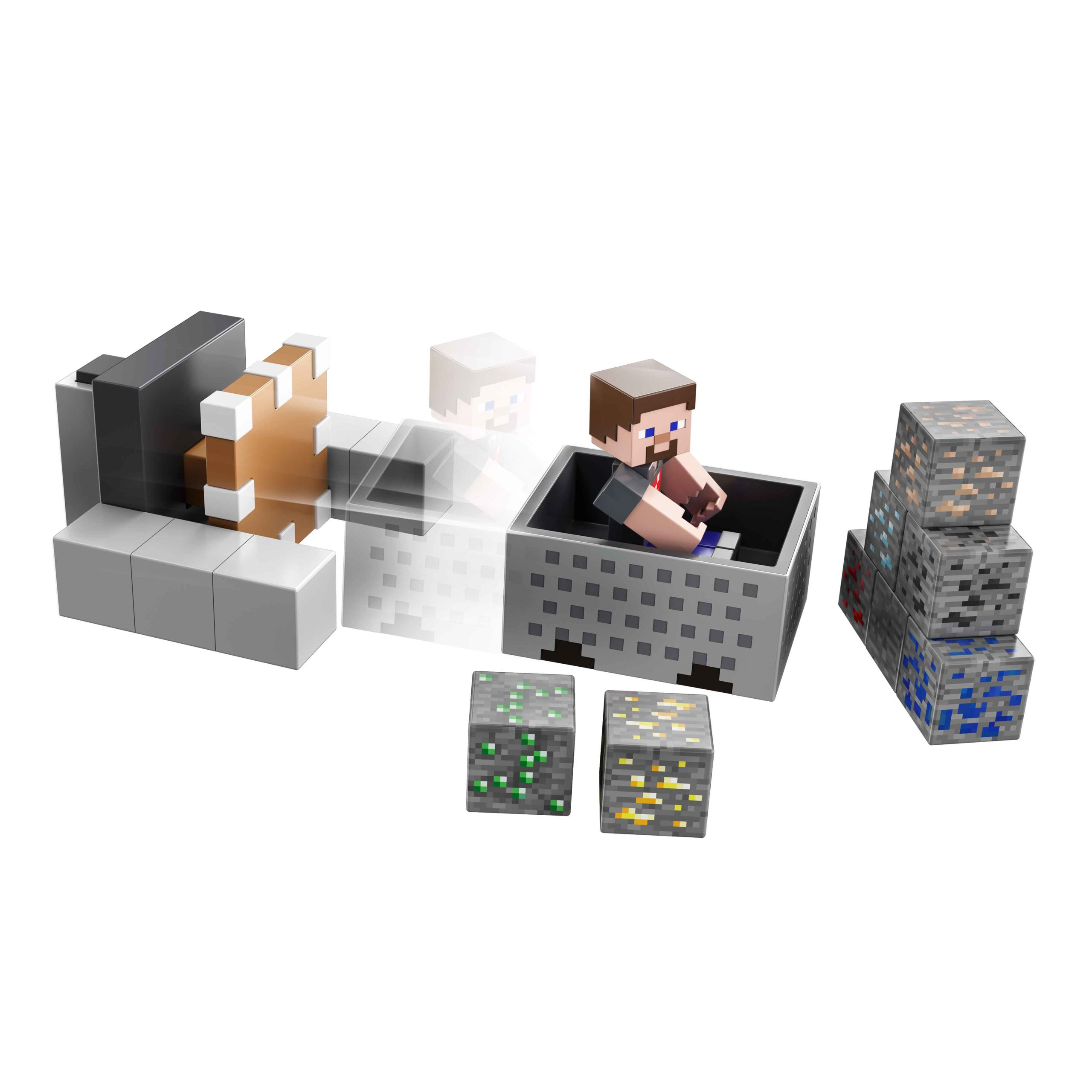 Mattel - Virtual Toy Fair 2021 - Minecraft Minecart Mayhem